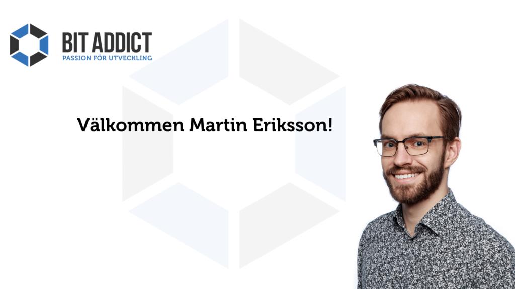 Välkommen Martin!
