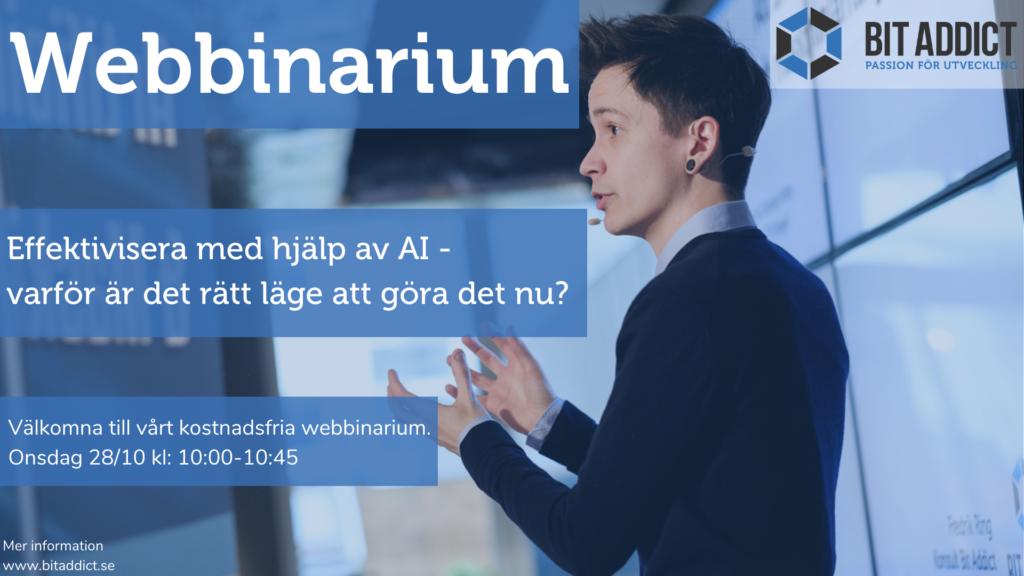 Webbinarium – Effektivisera med hjälp av AI